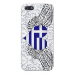 I Love Greece -wings iPhone 5 Cases