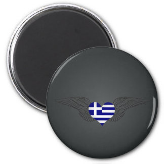 I Love Greece -wings Fridge Magnets