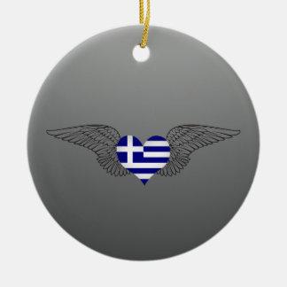 I Love Greece -wings Ornaments