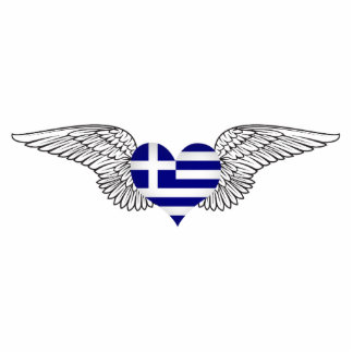 I Love Greece -wings Acrylic Cut Out