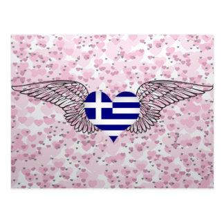 I Love Greece -wings Post Card