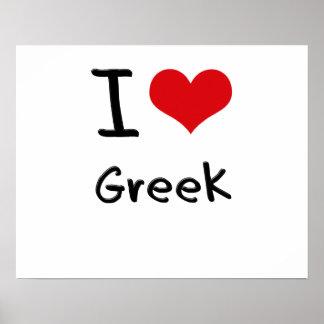 I Love Greek Print