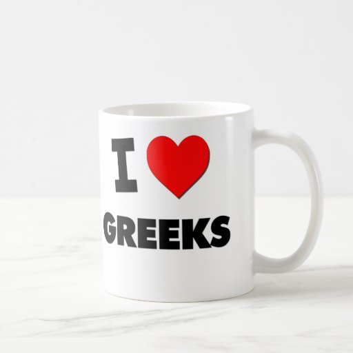 I Love Greeks Classic White Coffee Mug