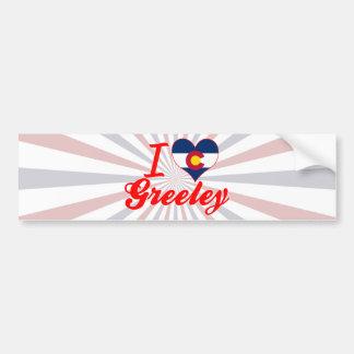 I Love Greeley, Colorado Car Bumper Sticker