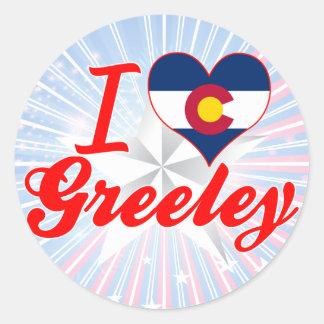 I Love Greeley, Colorado Classic Round Sticker