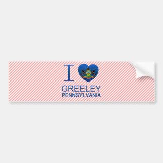 I Love Greeley, PA Car Bumper Sticker