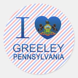 I Love Greeley, PA Classic Round Sticker