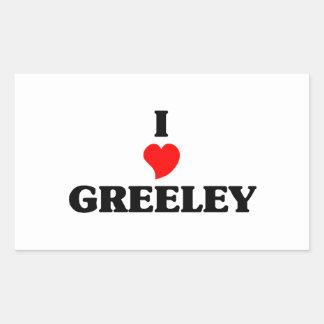 I love Greeley Rectangular Sticker