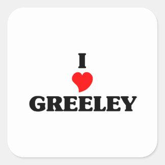I love Greeley Square Sticker