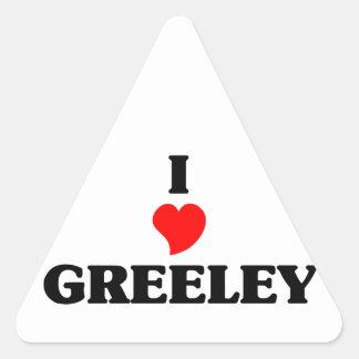 I love Greeley Triangle Sticker