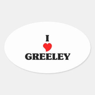 I love Greeley Oval Sticker