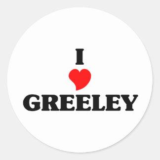 I love Greeley Classic Round Sticker