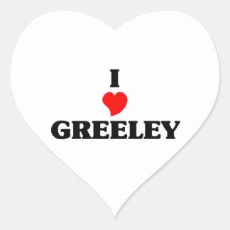 I love Greeley Heart Sticker
