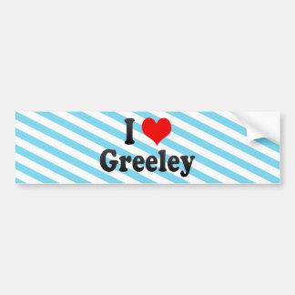 I Love Greeley, United States Car Bumper Sticker