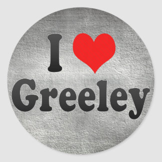 I Love Greeley, United States Classic Round Sticker