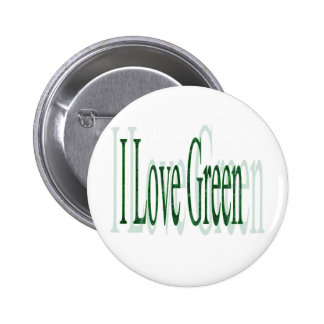 I Love Green 2 Inch Round Button