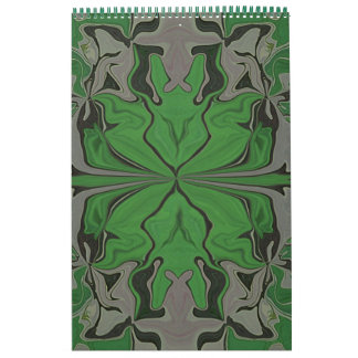 I love Green Abstract Art Calendar