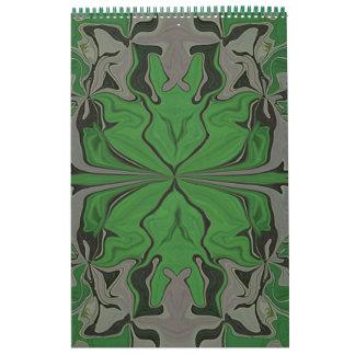 I love Green Abstract Art Calendar