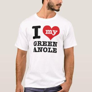 I Love Green Anole T-Shirt