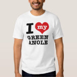 I Love Green Anole Tee Shirt