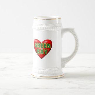 I Love Green Bay Beer Stein