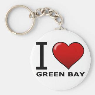 I LOVE GREEN BAY,WI - WISCONSIN KEYCHAIN