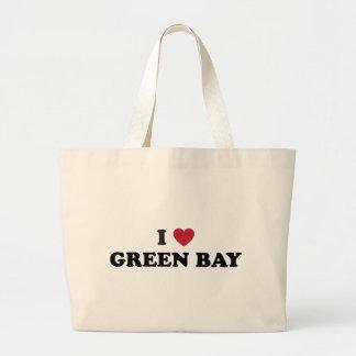 I Love Green Bay Wisconsin Canvas Bag