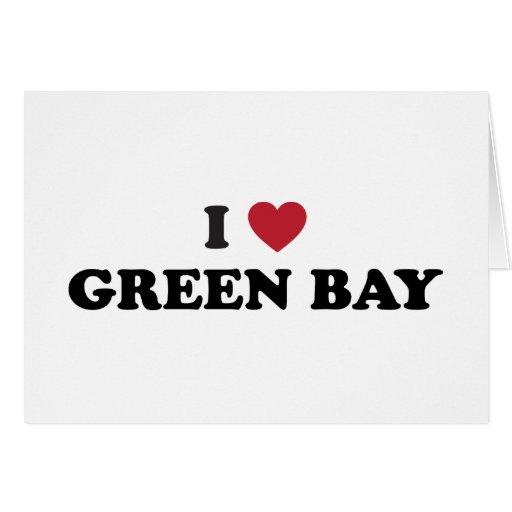 I Love Green Bay Wisconsin Greeting Card