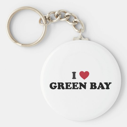 I Love Green Bay Wisconsin Keychain