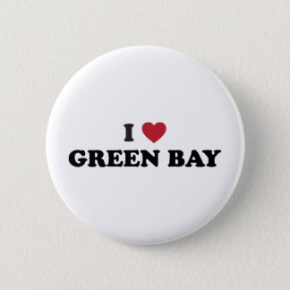 I Love Green Bay Wisconsin Pinback Button
