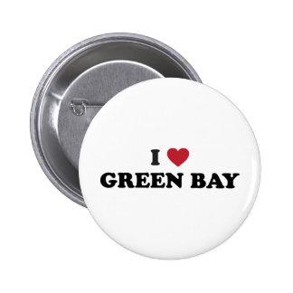 I Love Green Bay Wisconsin Pinback Button