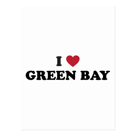 I Love Green Bay Wisconsin Postcard