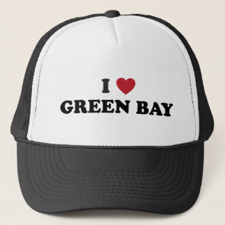 I Love Green Bay Wisconsin Trucker Hat