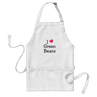 I Love Green Beans Adult Apron