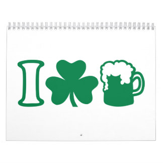 I love green beer wall calendar
