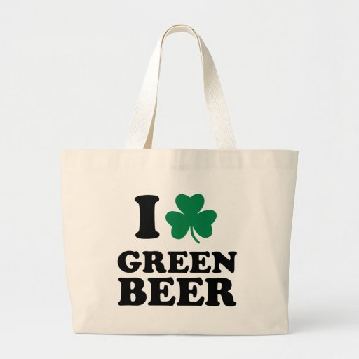 I love green beer canvas bag