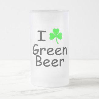 I Love Green Beer Coffee Mug