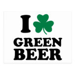 I love green beer postcard