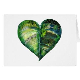 I Love Green Blank Card