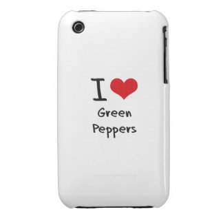 I Love Green Peppers iPhone 3 Covers
