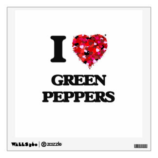 I Love Green Peppers Wall Decor