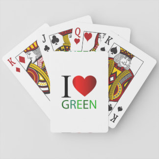 I love green playing cards