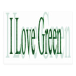 I Love Green Postcard
