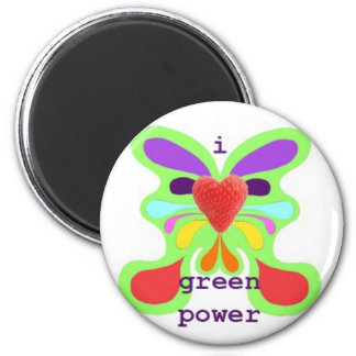 I love green power 2 inch round magnet