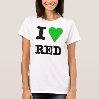 I love(green) red T-Shirt