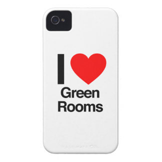 i love green rooms iPhone 4 case