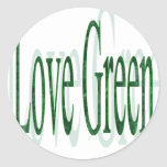 I Love Green Sticker