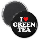 I LOVE GREEN TEA REFRIGERATOR MAGNET