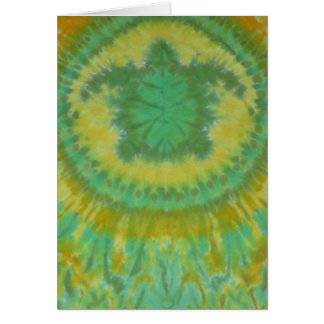 I Love Green Turtles Tie Dye Phat Dyes Card