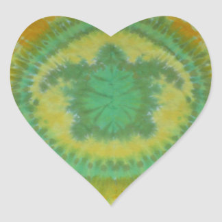I Love Green Turtles Tie Dye Phat Dyes Heart Sticker